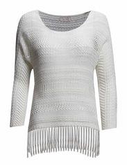 Jada Knit Top - Cream Off White