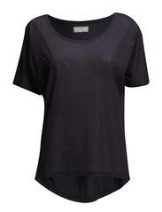 Femme T-shirt w/o print- MIN 2 - Bluish Black