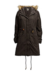 Live Parka Coat- MIN 6 pcs - BLACK OLIVE