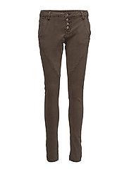 Bailey twill Pants - DARK TAN