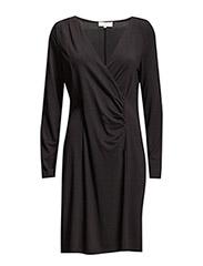 Tenna LS Dress - PITCH BLACK