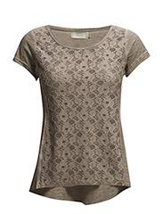 Irene SS T-shirt - STONE BROWN