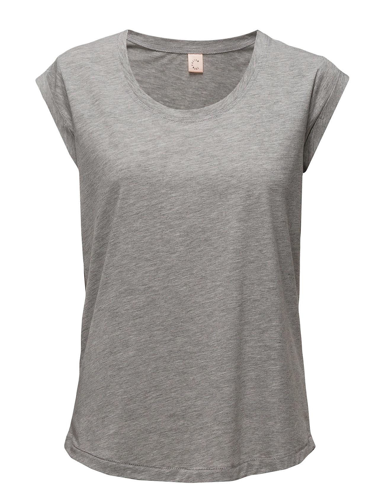 Lonnie Custommade T-shirts & toppe til Kvinder i Grey Melange