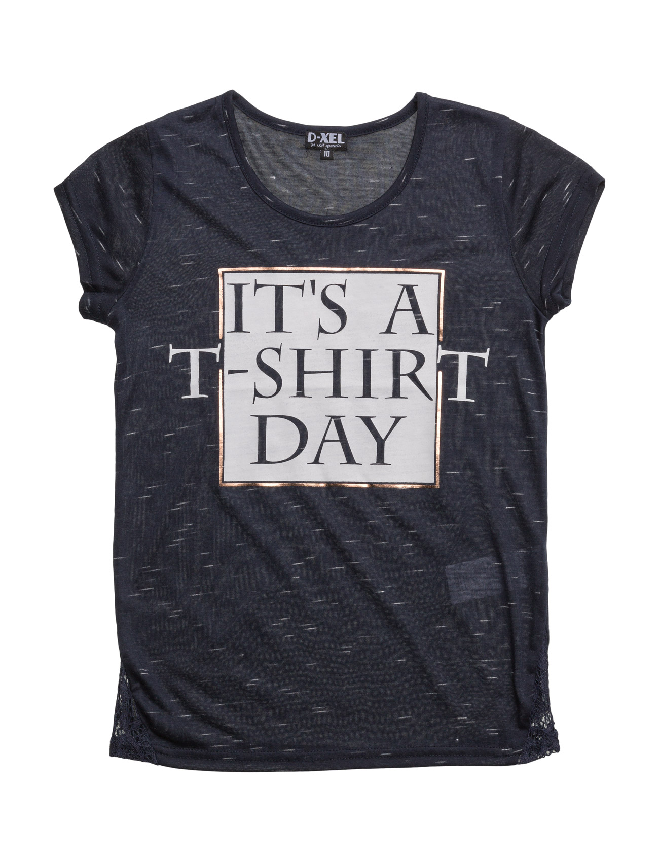 Filo T-Shirt D-xel T-shirts til Piger i Navy blå