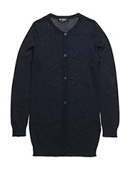 EMINE LONG CARDIGAN - NAVY