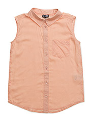 KELLA SLEEVELESS SHIRT - PEACH
