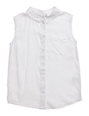 KELLA SLEEVELESS SHIRT - WHITE