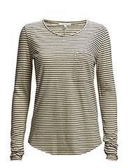 Eli Stripe - White/Black Stripe
