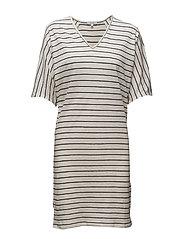 Ines dress - RAW SILK STRIPE