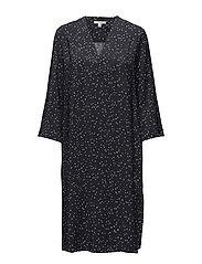 Candice Dress - NAVY DOT PRINT