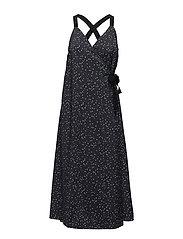 Scarla Dress - NAVY DOT PRINT