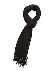 Woven solid scarf - BLACK