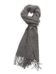 Woven solid scarf - GREY MELANGE