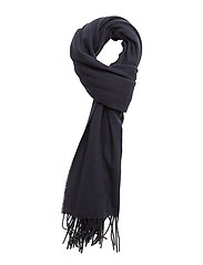 Woven solid scarf - NAVY
