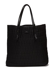 Quilted shopping bag - BLACK