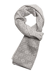 Sonja Scarf - LIGHT GREY/OFF WHITE