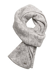 Rose scarf - LIGHT CHARCOAL/OFF WHITE
