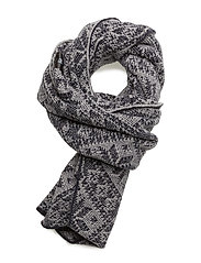 Rose scarf - NAVY/LIGHT CHARCOAL