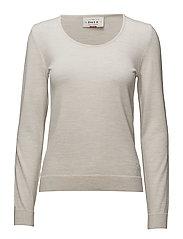 Astrid Feminine Sweater - WHITE MEL.
