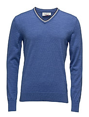 Kristian Masculine Sweater - MEDIUM BLUE