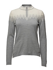 Snefrid feminine sweater - GREY/OFF WHITE