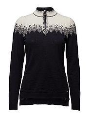 Snefrid feminine sweater - NAVY/OFFWHITE