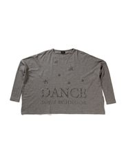 Dance t-shirtw/dance print - light grey