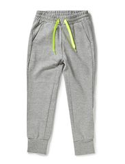 Sweat pants w/silver lurex - grey