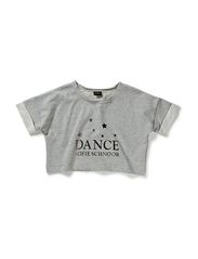 Blouse w/dance logo - grey w. si