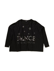 oversize shirt - DANCE - BLK