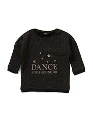 Blouse w. dance logo - BLK