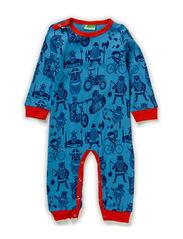 Snooze Suit - Prcln blue/dk indigo ALLVIKING