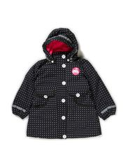 Anna Winter Jacket - Black/White MINIDOT
