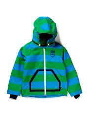 Jacques Midseason Jacket - Vibrant Blue/Spring Green Stripe