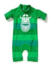 Tuberider Suit Navy/Spring Green HEARTPRINT,0-1 YR - Grass Green/Green/Springgren ERIK