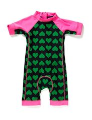 Tuberider Suit Navy/Spring Green HEARTPRINT,0-1 YR - Navy/Spring Green HEARTPRINT