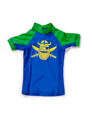 Hawaii Rashguard SS - Apl grn/Ryl blue ERIK