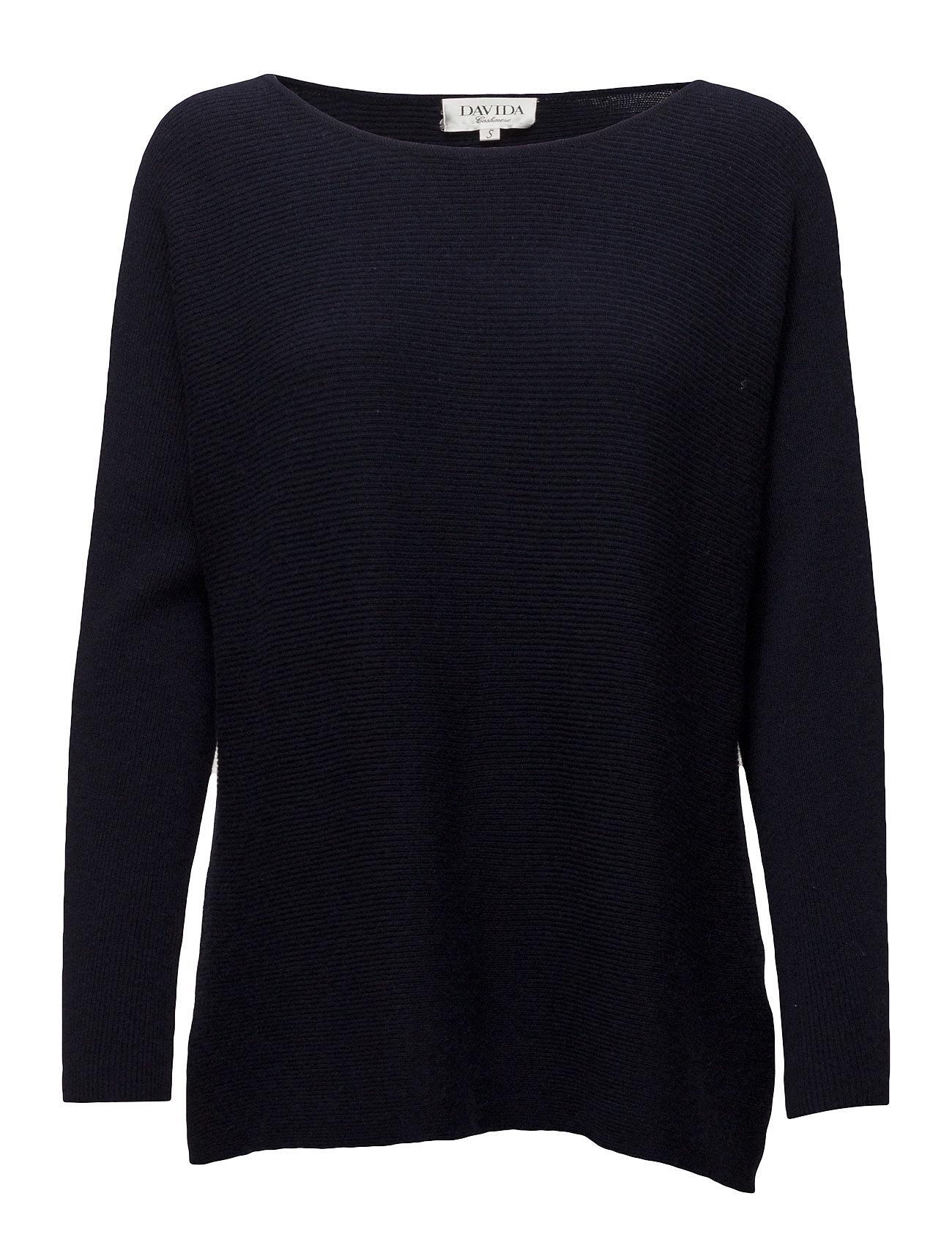davida cashmere O-neck sweater rib på boozt.com dk