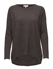Loose Sweater - DARK BROWN