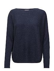 Curved Sweater - DENIM BLUE