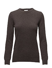 Basic sweater - DARK BROWN