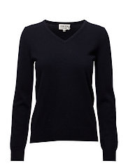 Basic V-neck Sweater - NAVY