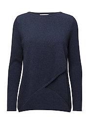 Davida Cashmere - Wrap Front Sweater