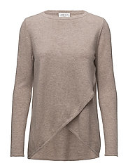 Wrap Front Sweater - SAND