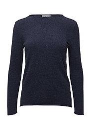 Raw Edge Sweater - DENIM BLUE