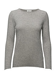 Raw Edge Sweater - LIGHT GREY