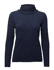 Loose Turtleneck - DENIM BLUE