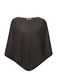Triangle Poncho - DARK BROWN