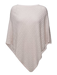 Triangle cable Poncho - LIGHT PINK