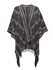 Day Crossing Poncho - PEACOAT